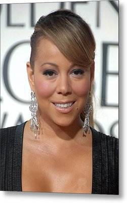 Mariah Carey Wearing Chopard Earrings Metal Print by Everett