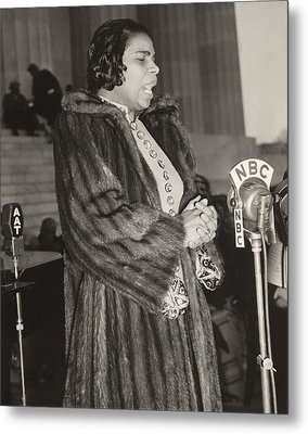 Marian Anderson 1897-1993, At A Nbc Metal Print