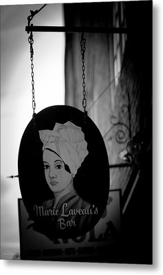 Metal Print featuring the photograph Marie Laveau's Bar by Shelly Stallings