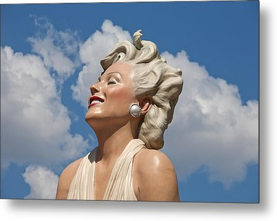 Marilyn In The Clouds Metal Print by Matthew Bamberg