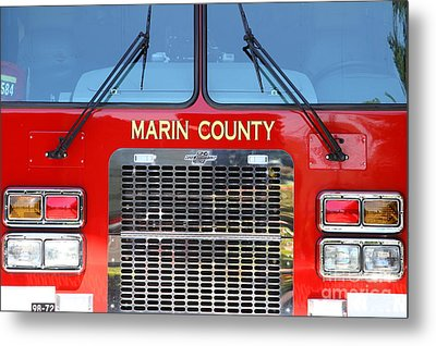 Marin County Fire Department Fire Engine . Point Reyes California . 7d15922 Metal Print by Wingsdomain Art and Photography