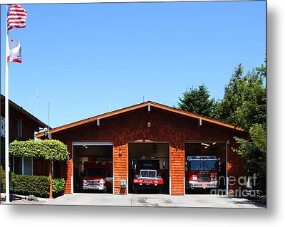 Marin County Fire Department . Point Reyes California . 7d15919 Metal Print by Wingsdomain Art and Photography