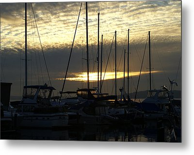 Metal Print featuring the photograph Marina by Jerry Cahill