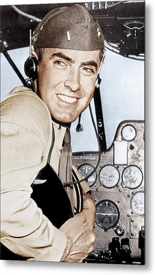 Marine Lieutenant Tyrone Power Metal Print by Everett