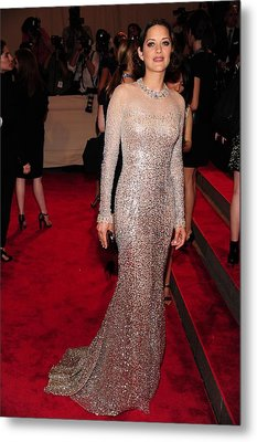Marion Cotillard Wearing A Silver Metal Print by Everett