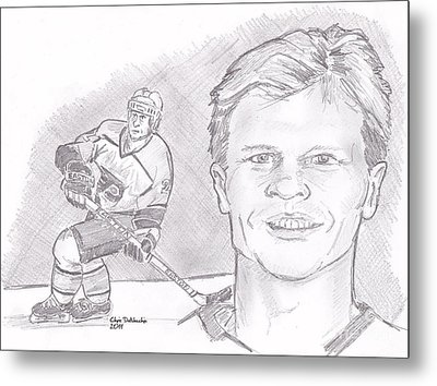 Mark Howe Metal Print by Chris  DelVecchio