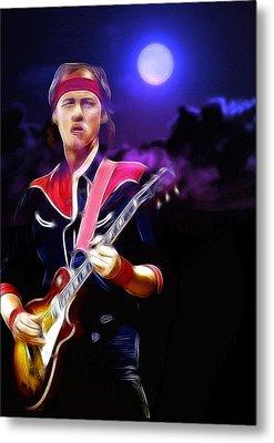 Mark Knopfler Guitar Hero Metal Print by Steve K