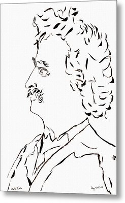 Mark Twain Metal Print by Day Williams