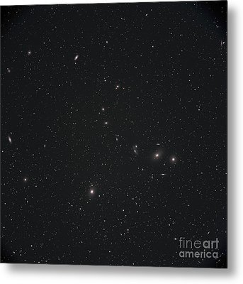 Markarians Chain Galaxies Metal Print by Phillip Jones