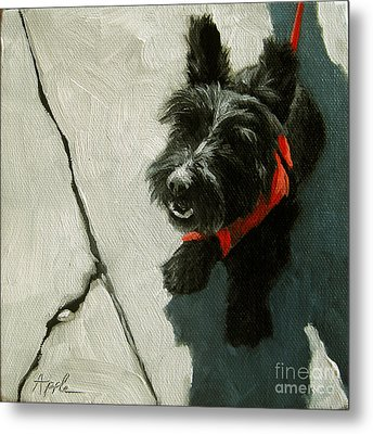 Market Day - Scottie Dog Metal Print by Linda Apple