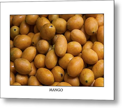Market Mangoes Against White Background Metal Print
