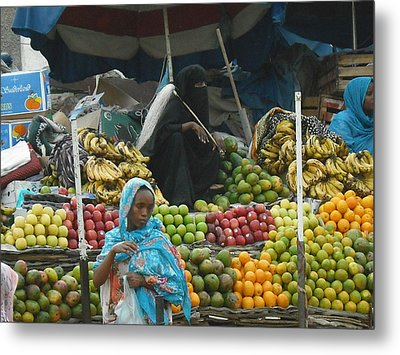 Market Of Djibuti-2 Metal Print by Jenny Senra Pampin