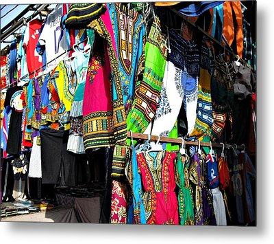 Market Of Djibuti With More Colors Metal Print by Jenny Senra Pampin