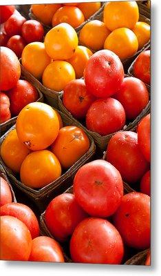 Market Tomatoes Metal Print by Lauri Novak
