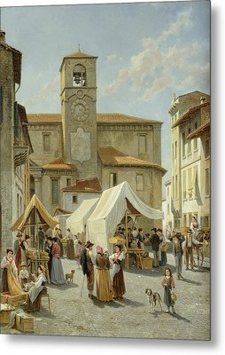 Marketday In Desanzano  Metal Print by Jacques Carabain