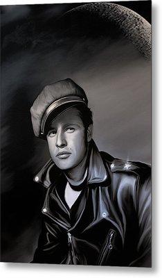Marlon Brando  Metal Print by Andrzej Szczerski
