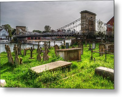 Marlow Bridge From All Saints Graveyard Metal Print by Chris Day