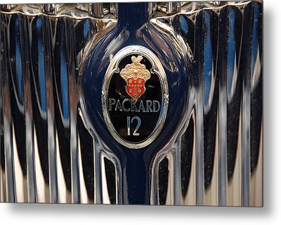 Metal Print featuring the photograph Marque Packard 12 by John Schneider