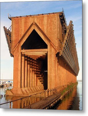 Metal Print featuring the photograph Marquette Ore Docks by Mark J Seefeldt