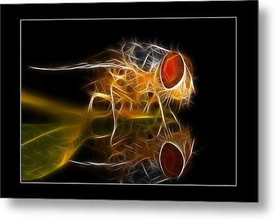 Metal Print featuring the digital art Mars Fly 02 by Kevin Chippindall