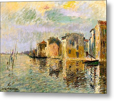 Martigues In The South Of France Metal Print by Gustave Loiseau