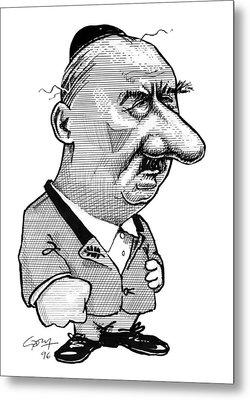 Martin Heidegger, Caricature Metal Print by Gary Brown