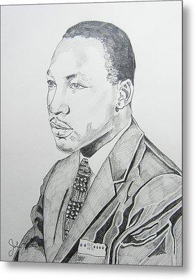 Martin Luther King Jr. Metal Print by John Keaton