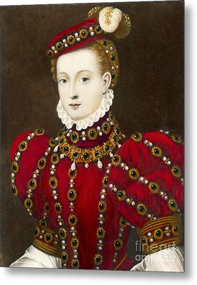 Mary Queen Of Scots Metal Print by Mary Evans Picture Library and Photo Researchers