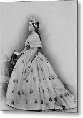 Mary Todd Lincoln 1818-1882, As First Metal Print by Everett
