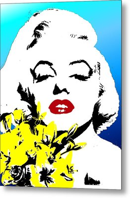 Metal Print featuring the painting Marylin Monroe by Jann Paxton
