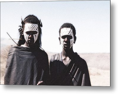 Masai Teens On Quest Metal Print