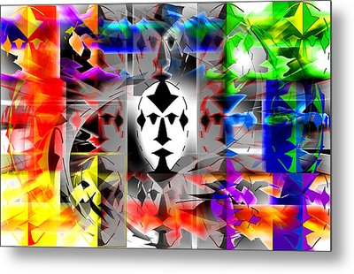 Mask Contemplations Metal Print by AW Sprague II