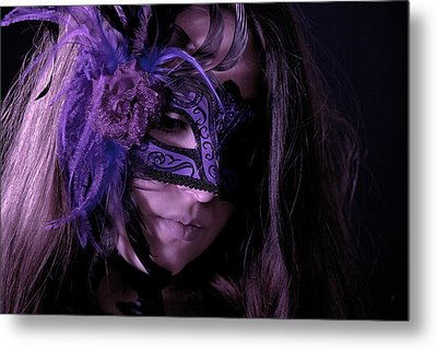 Mask Metal Print by Joana Kruse
