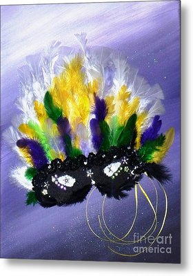 Metal Print featuring the painting Masque Over Bourbon Street by Alys Caviness-Gober