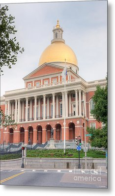 Massachusetts State House I Metal Print by Clarence Holmes