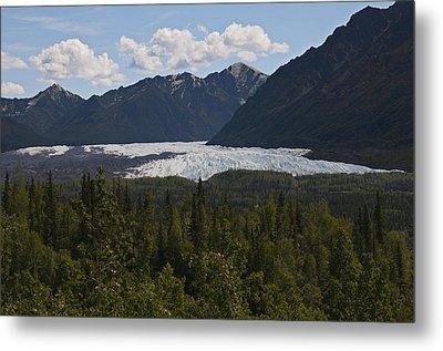 Matanuska Glacier Metal Print by George Hawkins