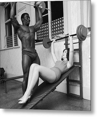 Matching Muscles Metal Print by John Drysdale
