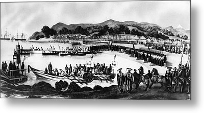Matthew C. Perry, Arriving In Japan Metal Print by Everett