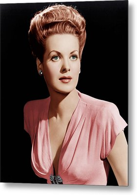 Maureen Ohara, Ca. 1946 Metal Print by Everett