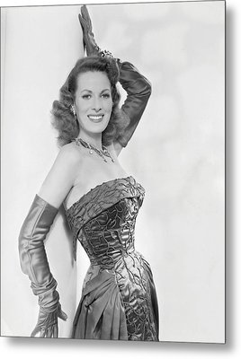 Maureen Ohara, Circa 1954 Metal Print by Everett