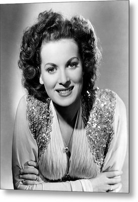 Maureen Ohara, Rko, 1940 Metal Print by Everett