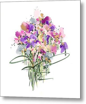 Mauvey Bouquet Metal Print