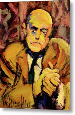 Metal Print featuring the painting Max Beckman by Les Leffingwell