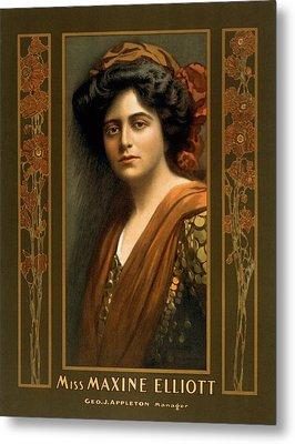 Maxine Elliott 1868-1940 An Actress Metal Print by Everett