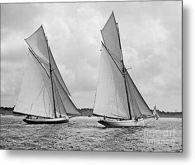Mayflower And Galatea Start America's Cup 1886 Metal Print by Padre Art