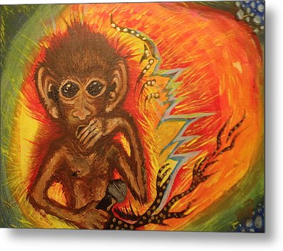 Mc Monkey Metal Print by Zitlalli Rodriguez