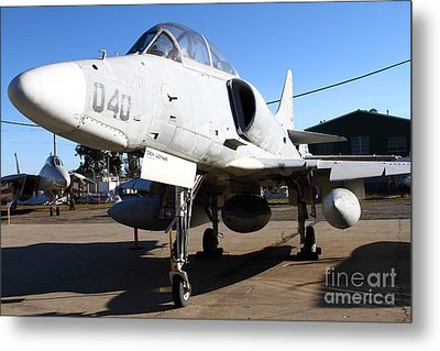 Mcdonnell Douglas Ta-4j Skyhawk Aircraft Fighter Plane . 7d11303 Metal Print by Wingsdomain Art and Photography