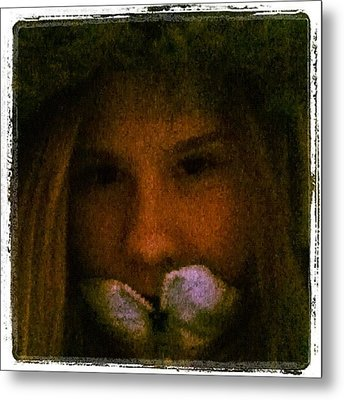 #me #edit #pretty #beautiful #beauty Metal Print by Jamiee Spenncer