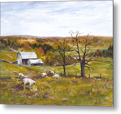 Metal Print featuring the painting Meadow Life by George Richardson