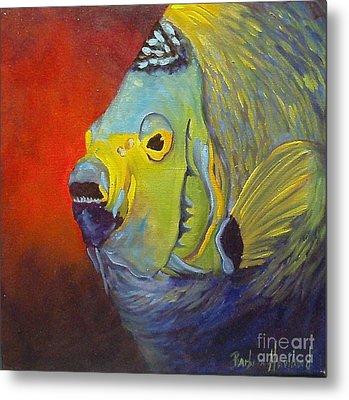 Mean Green Fish Metal Print